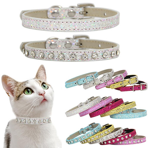 Diamond Rhinestone Cat-Puppy Collar