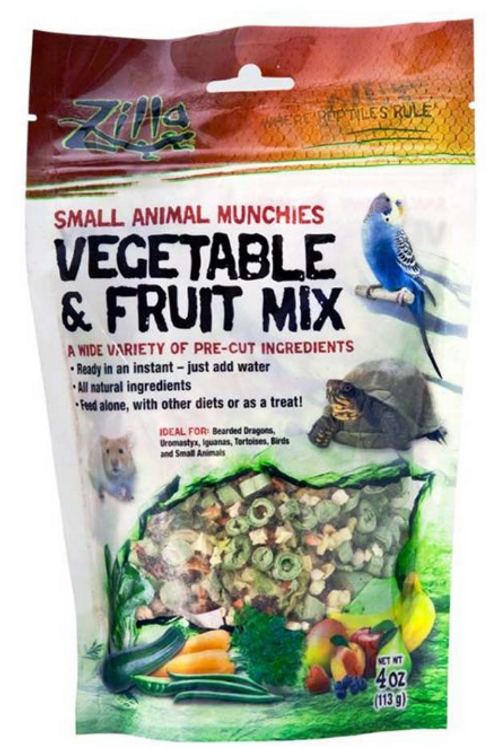 ZILLA SMALL ANIMAL MUNCHIES VEG & FRUIT MIX