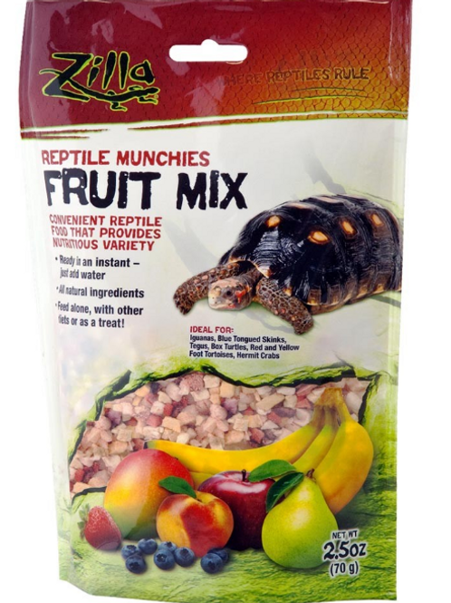 ZILLA REPTILE MUCHIES FRUIT MIX