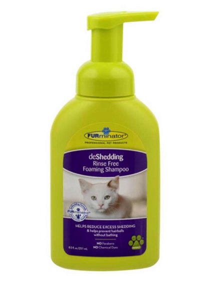 FURMINATOR DESHEDDING RINSE FREE FOAMING CAT SHAMPOO