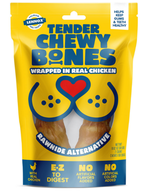 ALTERNATIVE RAWHIDE CHEWY BONES - CHICKEN