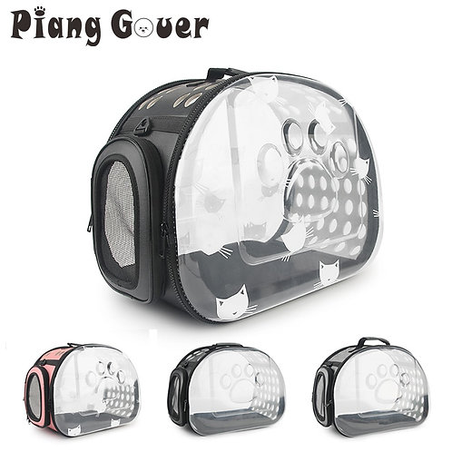 Transparent Small Dog & Cat Carrier