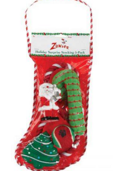 HOLIDAY SURPRISE STOCKING 5 PK