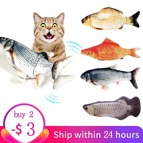 Electronic Cat Toy 3D Fish
