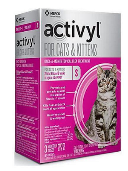 ACTIVYL SPOT ON-CATS & KITTENS 2LB-9LB
