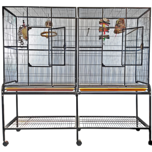 DOUBLE FLIGHT CAGE WITH DIVIDER