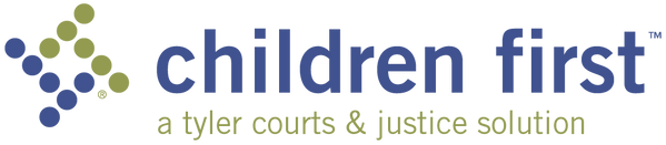 logo for children first software, developed by tyler technologies