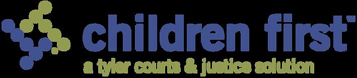logo for children first software, developed by tyler technologies