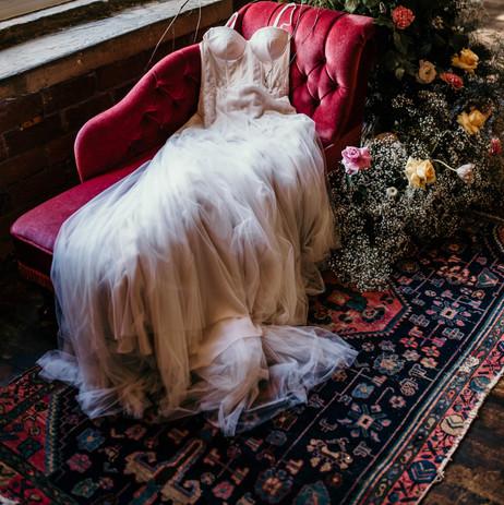Photographer: The Burtons / Florist: Out of the Bloom / Bridalwear: Bridal Emporium Leeds