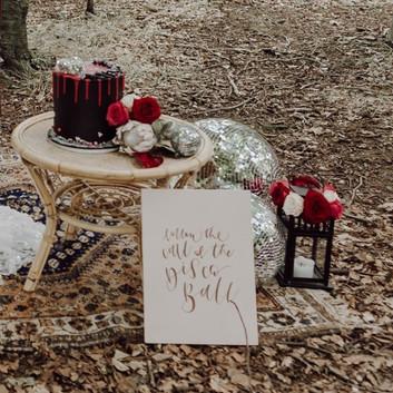 Photographer: Gina Fernandes / Florist: Amanda Steele Flowers / Cake: Red Robin Cakery / Signage: Wild Calligraphy