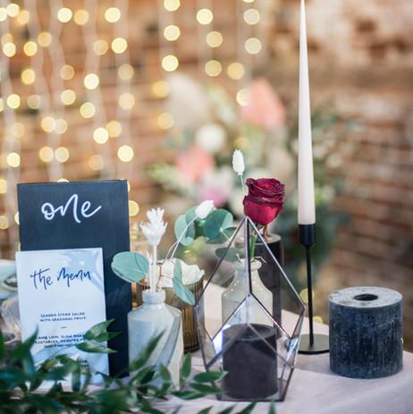 Photographer: Matt Glover / Florist: Boon & Bloom / Signage: The Handmade Sign Co.