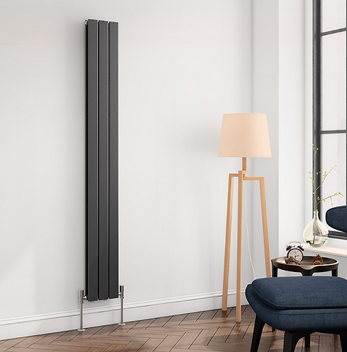 FLAT VERT DESIGNER RADIATOR 1800 X 218 SINGLE ANTHRACITE