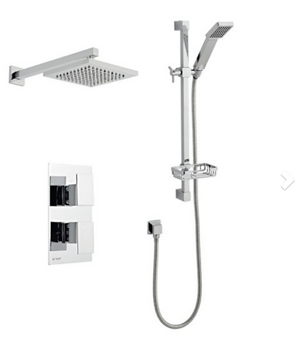 Element Shower Option 3 Thermostatic Concealed Shower with Adjustable Slide Rail