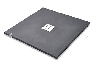 Slate Effect Shower Trays Square Trays - 900mm Graphite