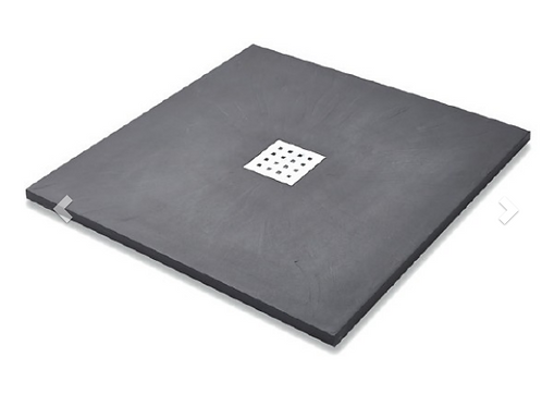 Slate Effect Shower Trays Square Trays - 800mm Graphite