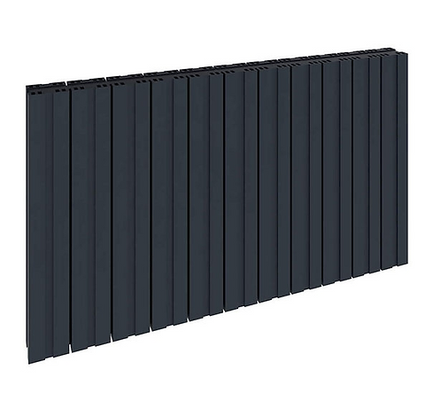 BOVA 600 x 470 ANTHRACITE DOUBLE ALUMINIUM RADIATOR