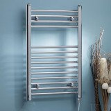 Electric Towel Rail – Thermostatic Straight 800x500mm