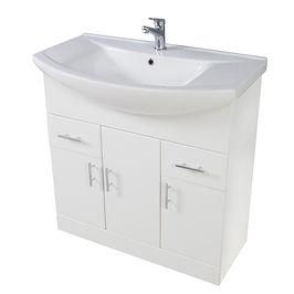 Lanza 750mm Basin Unit Gloss White With Basin