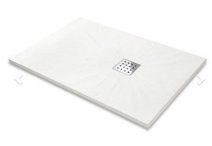Slate Effect Shower Trays Rectangle Trays - 1400x800mm White