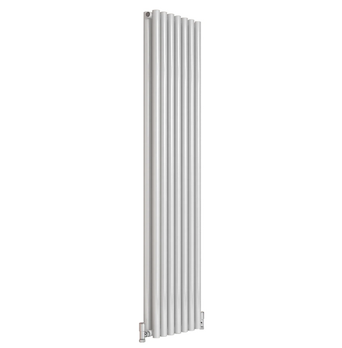 ROUND DESIGNER RADIATOR - 1800 X 295 DOUBLE WHITE