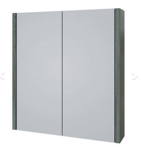 Purity 600mm Mirror Cabinet - Grey Ash