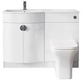 P Shape Basin Unit for Handed Model