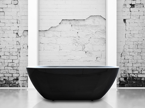 India Black 1690 Double Ended Freestanding Bath