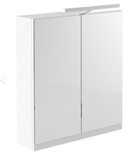 Ikon 600mm Mirror Cabinet with Light & Shaver Socket - White