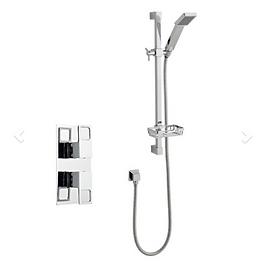 Kourt Shower Option 1 Thermostatic Concealed Shower with Adjustable Slide Rail K
