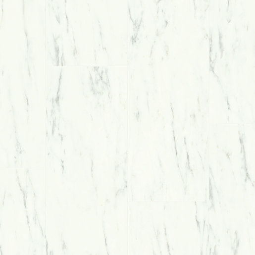 Quick Step: Marble Carrara White Luxury Vinyl Flooring