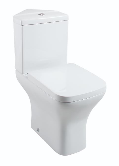 Fair Corner Close Coupled Pan & Cistern - Wrapover Seat