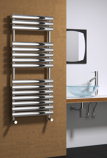 HELIN 500 X 826 POLISHED STAINLESS STEEL  TOWEL RADIATOR
