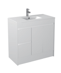 Gloss White Floorstanding Basin 900mm - Icladd Solid PVC Furniture