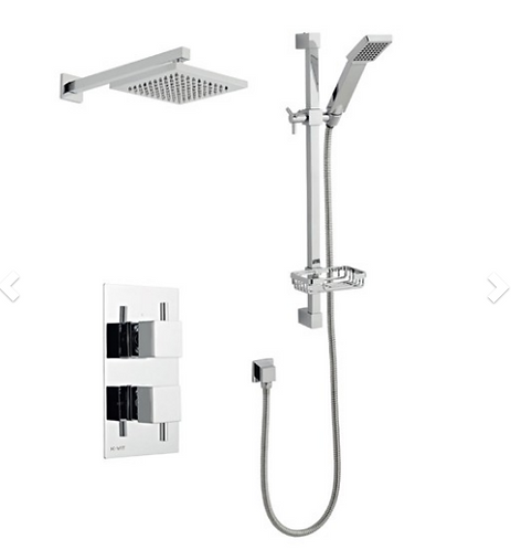 Pure Shower Option 3 Thermostatic Concealed Shower with Adjustable Slide Rail Ki