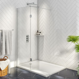 8mm Wetroom 900 with 275mm Deflector Panel