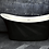 Thumbnail: Margaux Black 1700 Double Ended Freestanding Bath