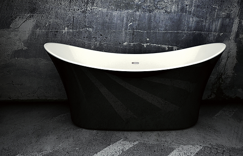 Margaux Black 1700 Double Ended Freestanding Bath
