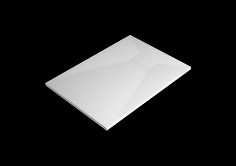 White Stone Effect Shower Tray 1300 x 800mm