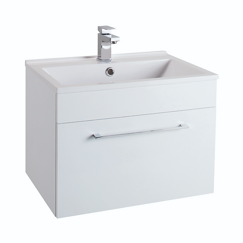 Idon 600 Gloss White 1 Drawer Basin Unit