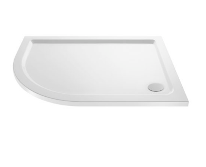 OFFSET LEFT QUADRANT STONE RESIN SHOWER TRAY 1200X900MM
