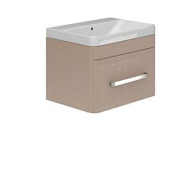 1 Drawer Basin Unit Grey Quadro & Basin