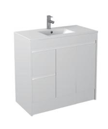 Gloss White Floorstanding Basin 900mm - Icladd Solid PVC Furniture