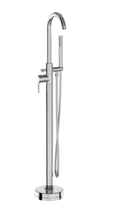 Freestanding Chrome bath tap for freestanding Bath