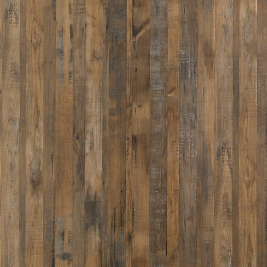 Linda Barker Plywood Wall Panels - Salvaged Planked Elm