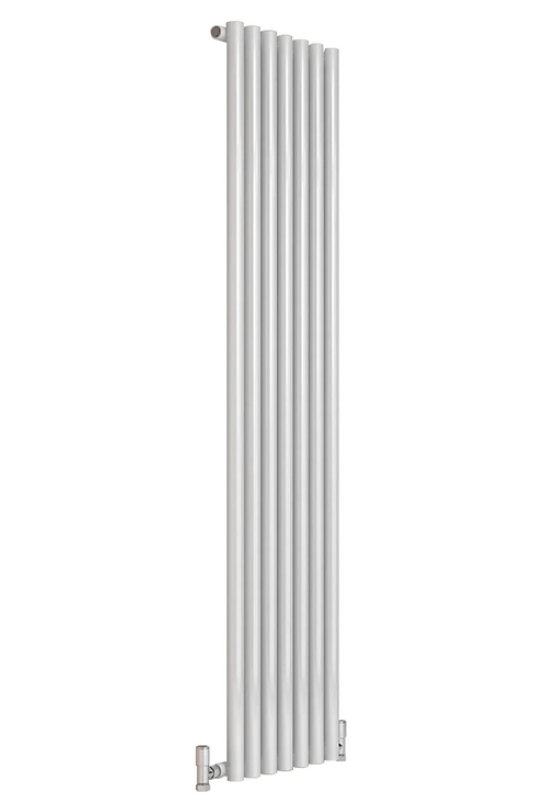 ROUND DESIGNER RADIATOR - 1800 X 413 DOUBLE WHITE