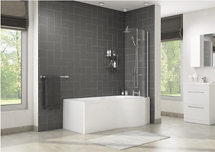 TEMPEST RIGHT HAND SHOWER BATH, SCREEN AND SIDE PANEL SET 1700MM