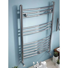 Curved Electric Towel Rail - On/Off 1000 x 500