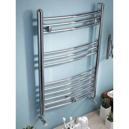 Curved Electric Towel Rail - Thermostatic 1200 x 500