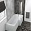 Thumbnail: HALLE RIGHT L SHAPE BATH WITH SCREEN & SIDE PANEL 1500×700