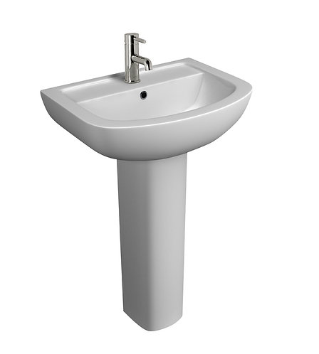 Studio 550mm 1th Basin and Pedestal